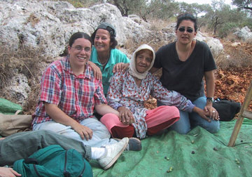 photograph of group including Dunya and Hannah